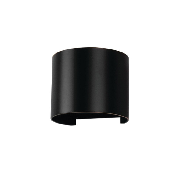 Up/Down 6W Double Adjustable Beam LED Round Wall Light in Matt Black