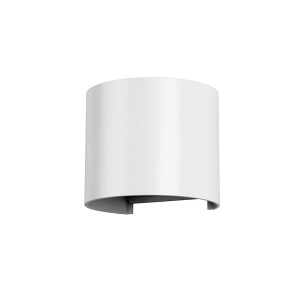Up/Down 6W Double Adjustable Beam LED Round Wall Light in Matt White
