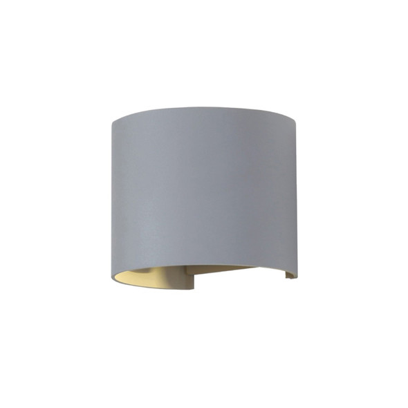 Up/Down 6W Double Adjustable Beam LED Round Wall Light in Grey