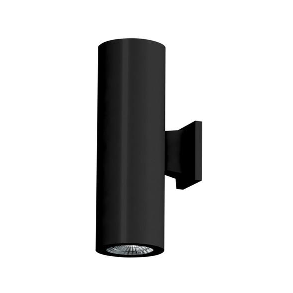 Up/Down Double Beam LED Wall Light in Matt Black IP54
