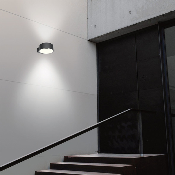 Toroidal Outdoor LED Wall Light in Black IP65