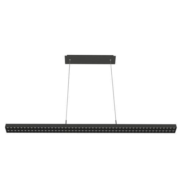 Ultra-Modern Double Commercial LED Suspended Strip Light Pendant in Matt Black