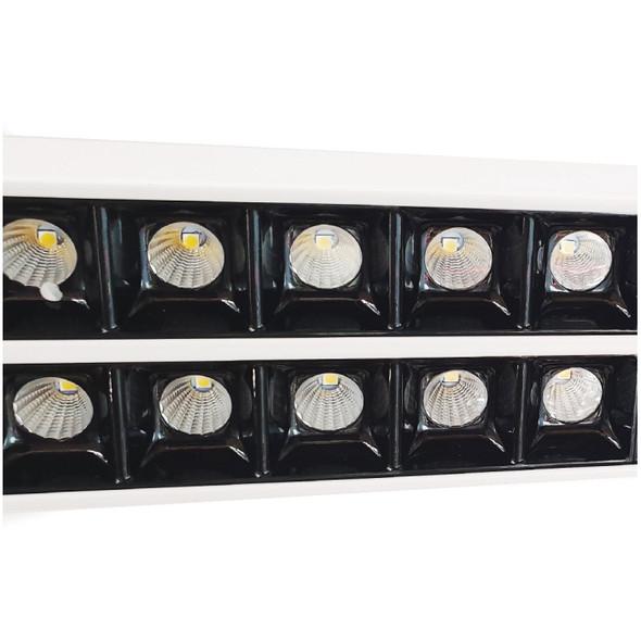 Ultra-Modern Double Commercial LED Suspended Strip Light Pendant in White