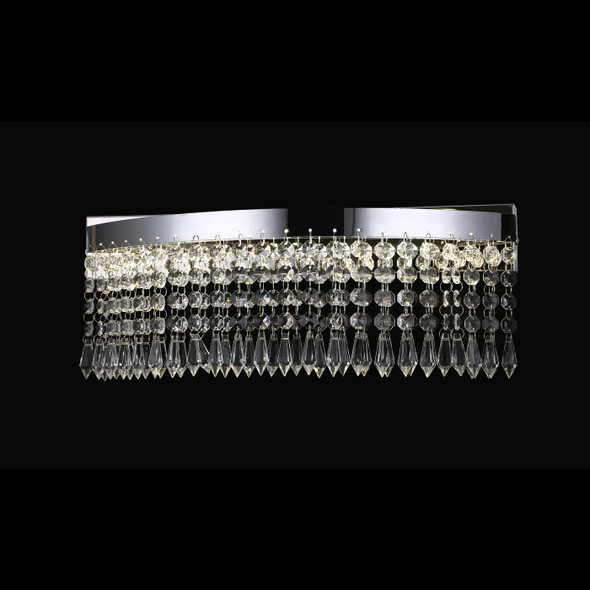 Akila Curved Crystal LED Wall Light in Chrome 12W