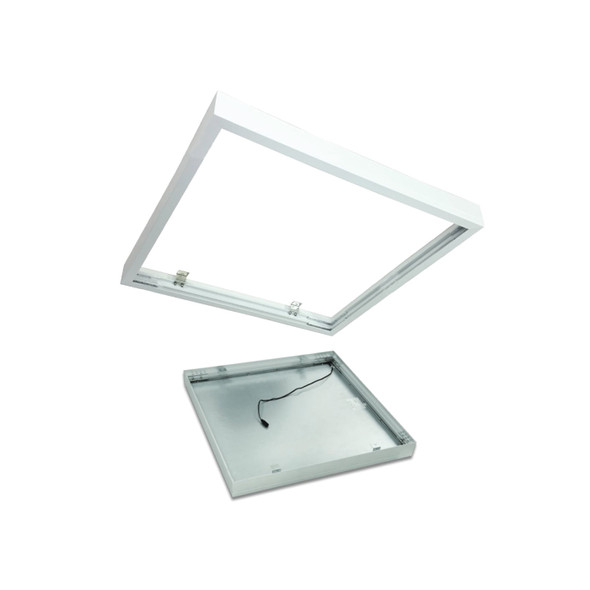 Surface Mounting Kit for Square LED Ceiling Panels 600 x 600 Panels in White