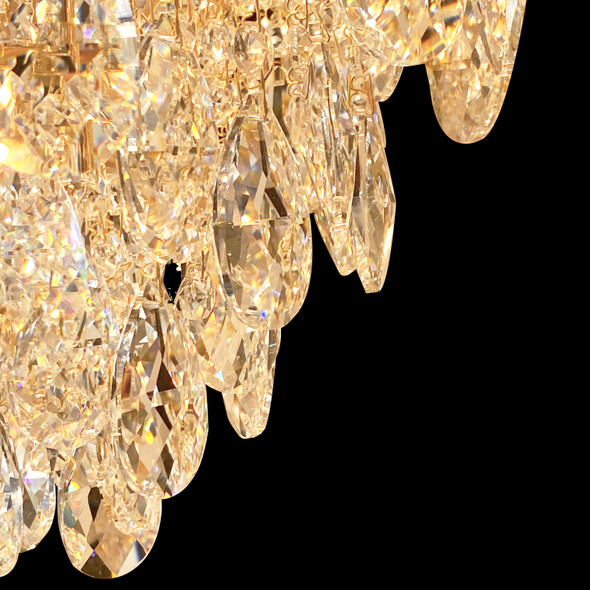 Polished Brass Crystal Chandelier 11 Lamps 460x460