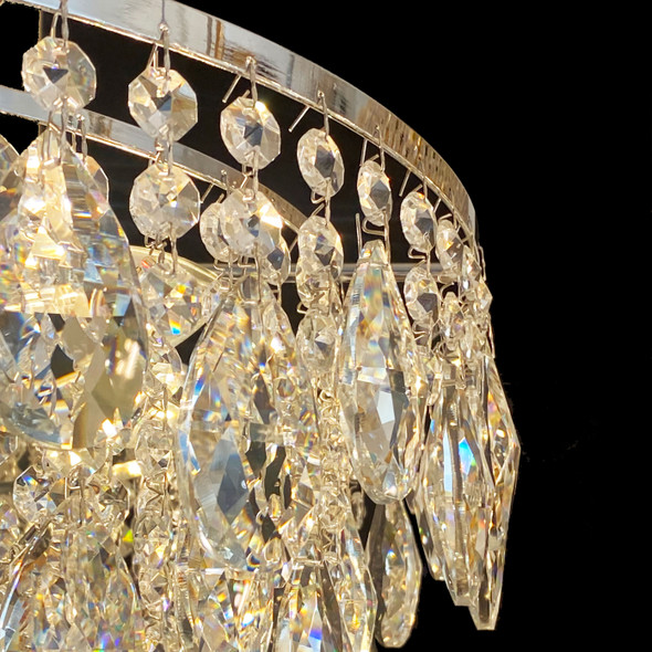 Polished Chrome Crystal Chandelier 11 Lamps 460x460