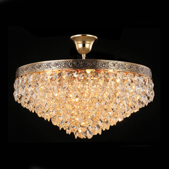 French Gold Crystal Chandelier 6 x Lamps 60W