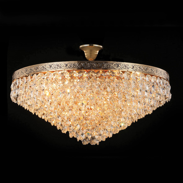 French Gold Black Crystal Chandelier 10 Lamps 60W