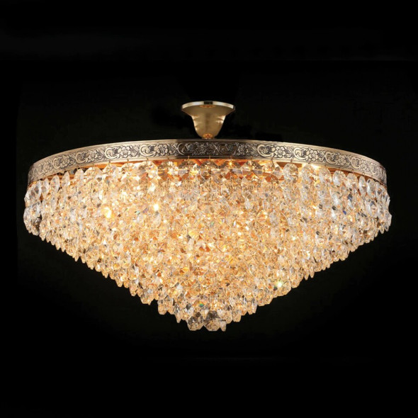 Nickel Finish Crystal Chandelier 10 Lamps 60W