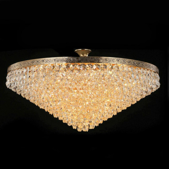 Nickel Finish Crystal Chandelier 14 Lamps 60W