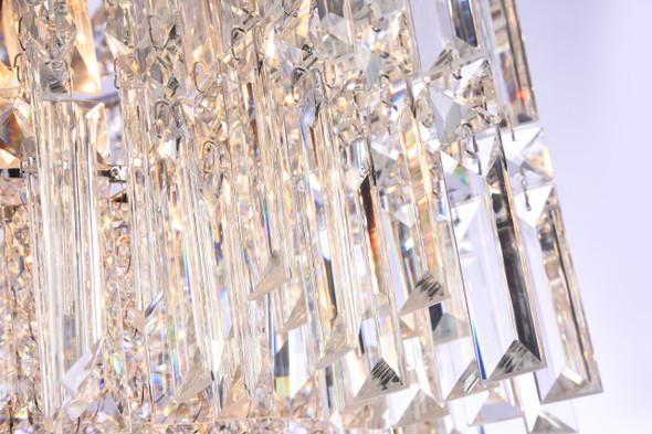 Crystal Chandelier Flush Mount in Polished Chrome Finish