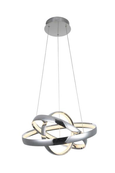 Twisted Pendant LED Light in Polished Chrome