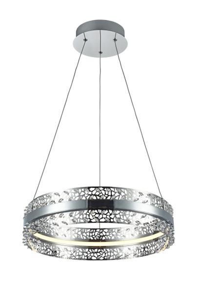 K9 Crystal LED Pendant Light in Chrome Finish