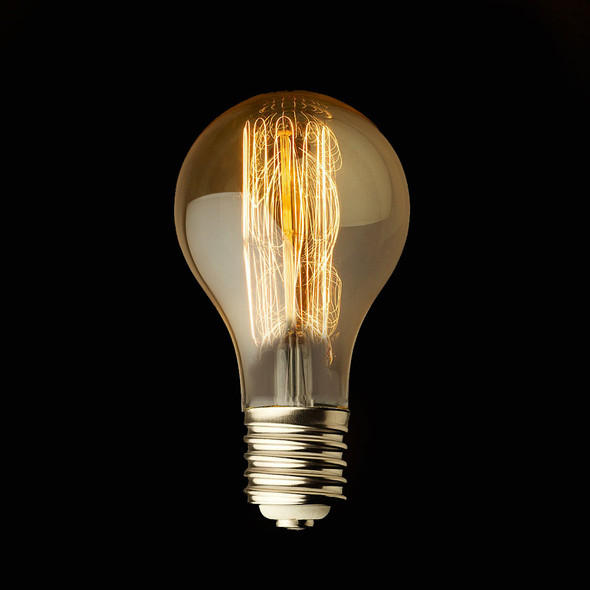 Vintage Clear GLS Squirrel Cage Style Filament Bulb 40W