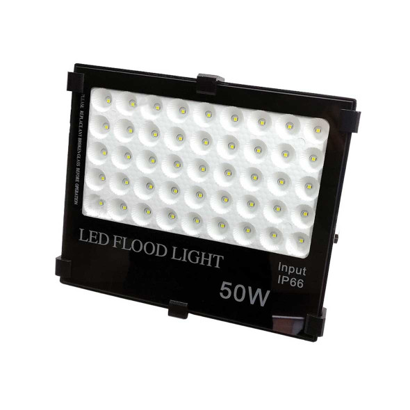 50w High Output LED Outdoor IP66 Security Floodlight in Black 6000K