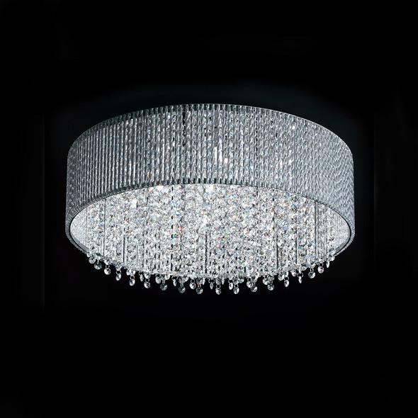 Round Amber Crystal Light 42W