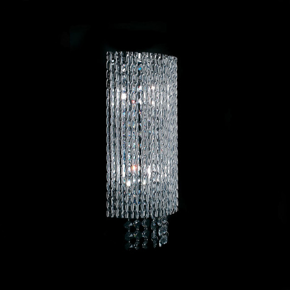 Woven Laser Design Wall Light with K9 and Amber Crystal/ 2 Lamps