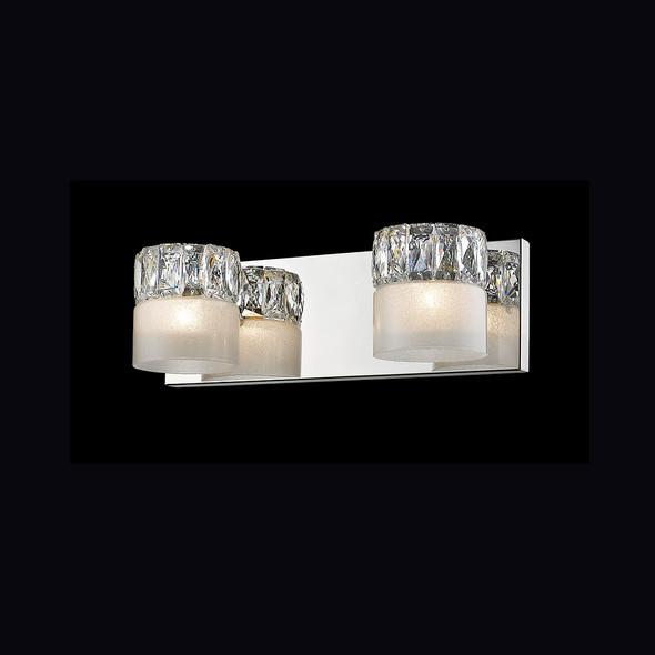 Twin Brosilicate Glass Wall Light in Chrome Finish