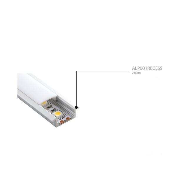 Recessed  Aluminium Surface Profile 2m