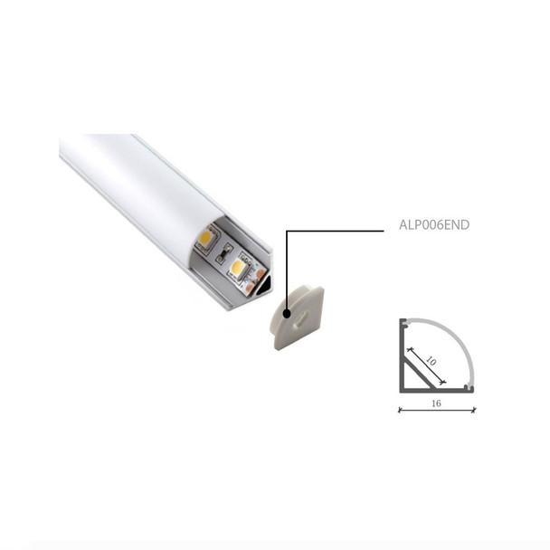 End Cap for ALP006 Corner Aluminium Surface Profile