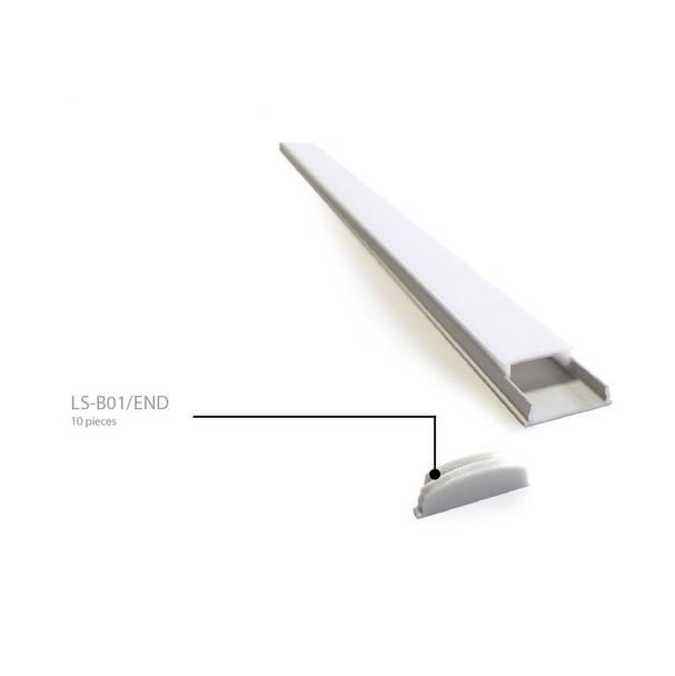 End Cap for Bendable Aluminium Surface Profile LS-B01