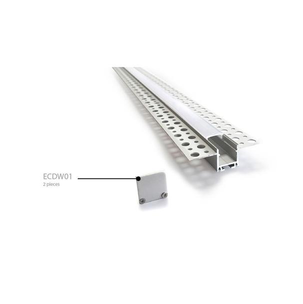 Metal End Caps for Aluminium Surface Profile ECDW01