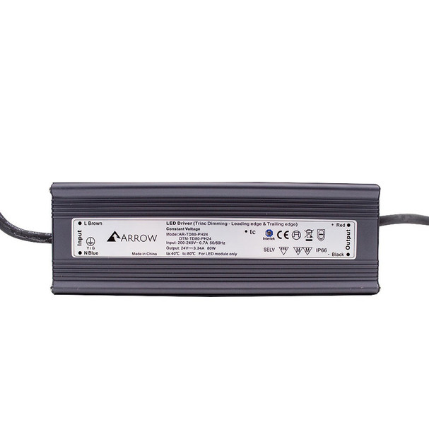 ELED8024T LED Triac Dimmable 24v Driver 80w Constant Voltage IP66