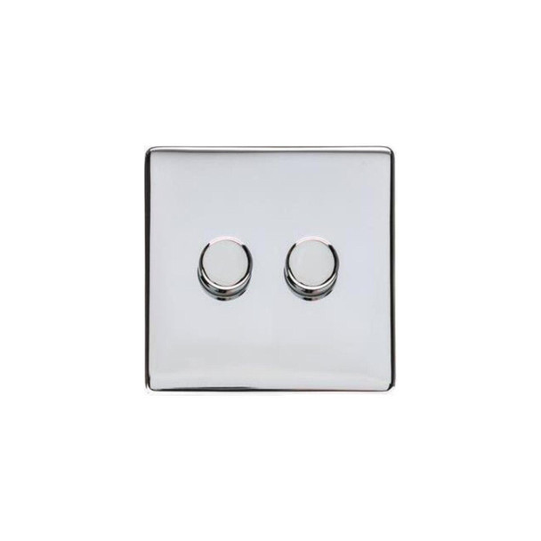 Studio Range 2 Gang Trailing Edge Dimmer in Polished Chrome - Trimless - Y02.270.TED