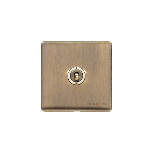Studio Range 1 Gang Intermediate Dolly Switch in Antique Brass - Trimless - Y91.2401.AB