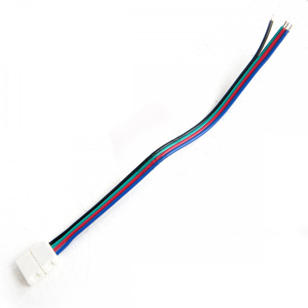 12V 10mm RGB Strip Single Ended Connector 130mm