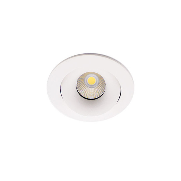 Tiltable 10W Dimmable LED Downlight 4000K IP65 & Fire Rated in Matt White Low Profile