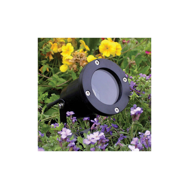 Outdoor Garden Ground Spike Light IP65 GU10 in Black