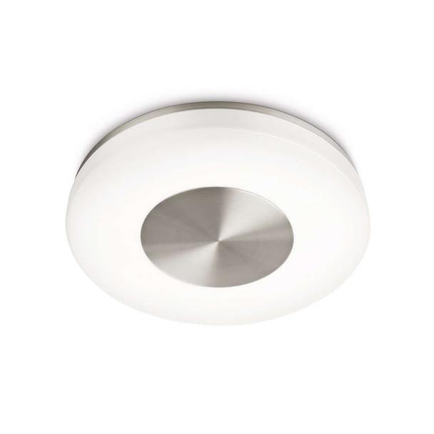 Round Ceiling Flush Light in Matt Chrome Finish