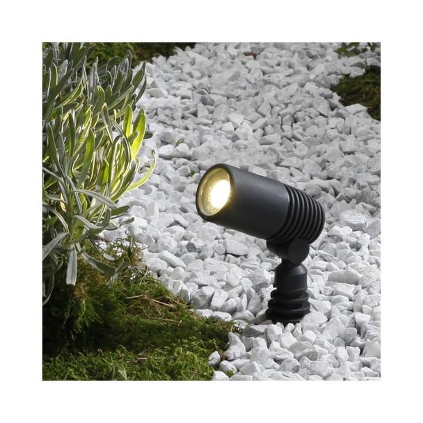 Ludeco Alder 2538063 LED Outdoor Ground Spike Lights - Set of 3 in Grey 12v
