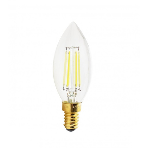 5Watt LED Filament Dimmable Candle Bulb SES 6500K Cool White/ 500 Lumens