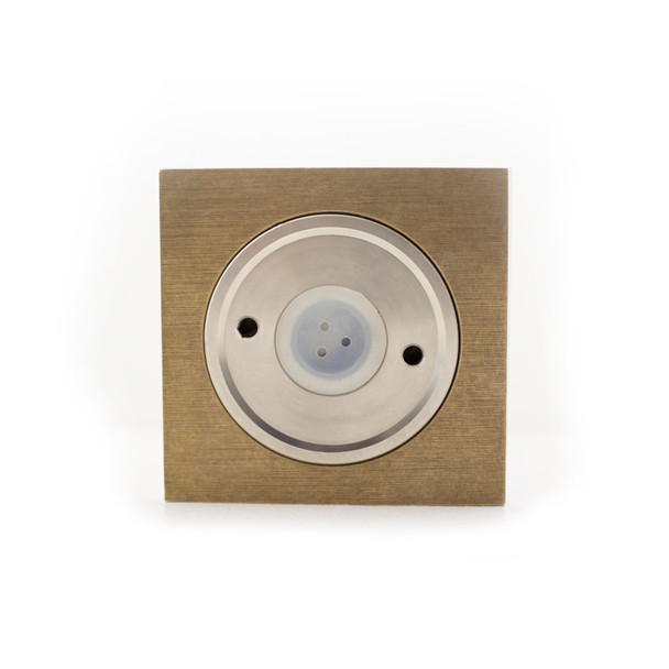 Up/Down Outdoor Compact 6W Double Beam LED Wall Light in Brass