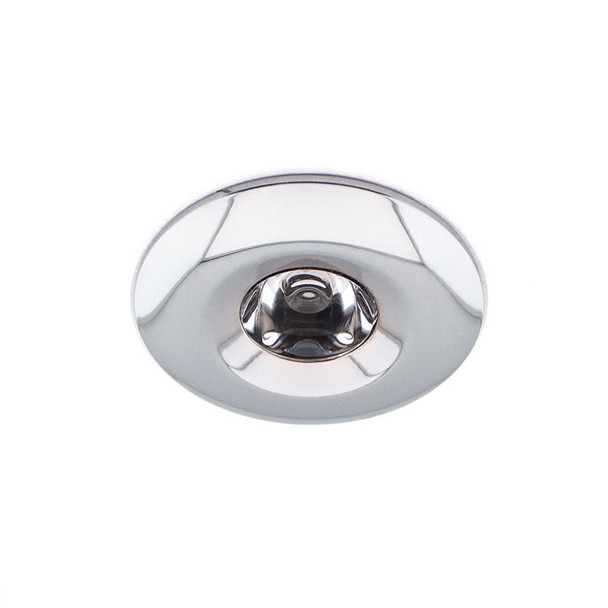 Mini 3w Fixed Dimmable LED Downlight in Polished Chrome 3000K Natural White IP65