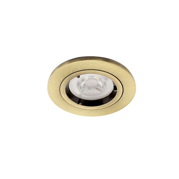 GU10  Fire Rated IP65 Downlight in Antique Brass