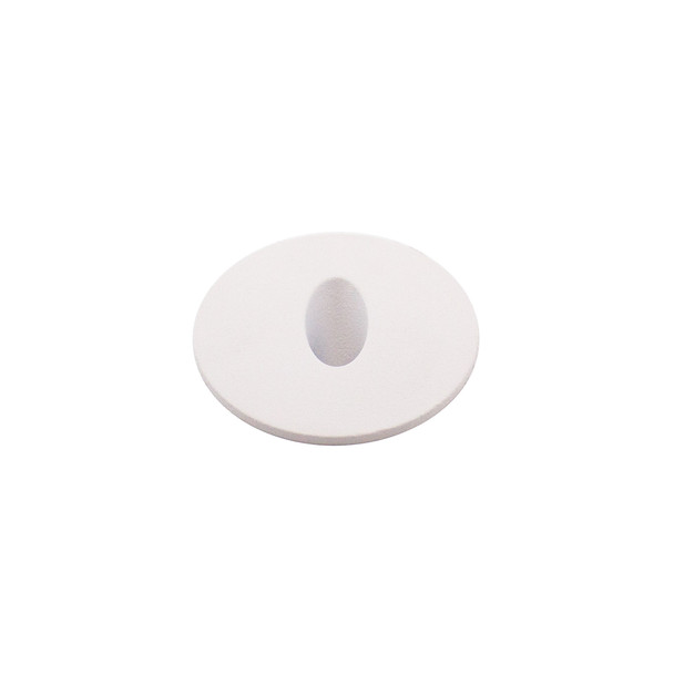 Dimmable 3w Small Round Recessed Oval Aperture LED Wall Light in Matt White IP44 4000K