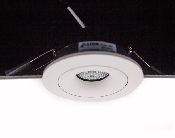 Tiltable 10W Dimmable LED Downlight 3000K IP65 & Fire Rated in Matt White Low Profile