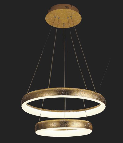 Mumbi Modern Ring LED Light in Golden Foil