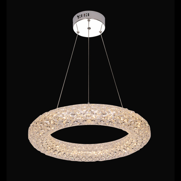 Nur Ring Shaped LED Pendant Light in Clear Finish