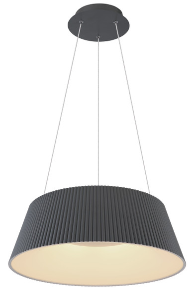 Contemporary LED Pendant Light in Grey CCT Changeable Temperature