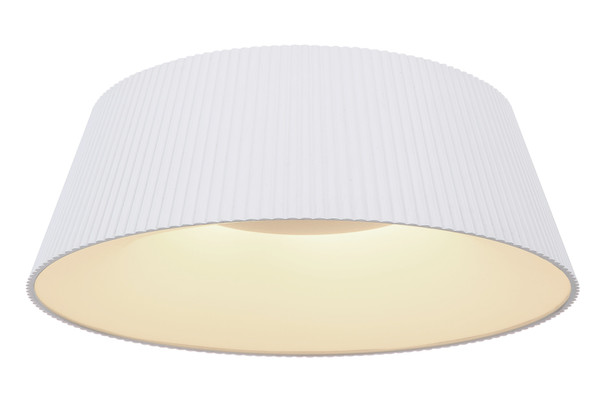 Contemporary LED Flush Light in White CCT Changeable Temperature