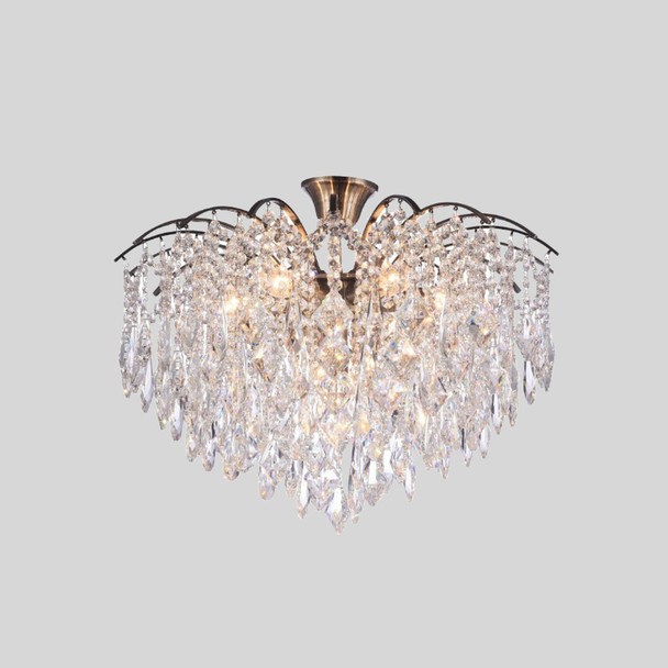 Polished Brass Crystal Chandelier 12 Lamps 690x400