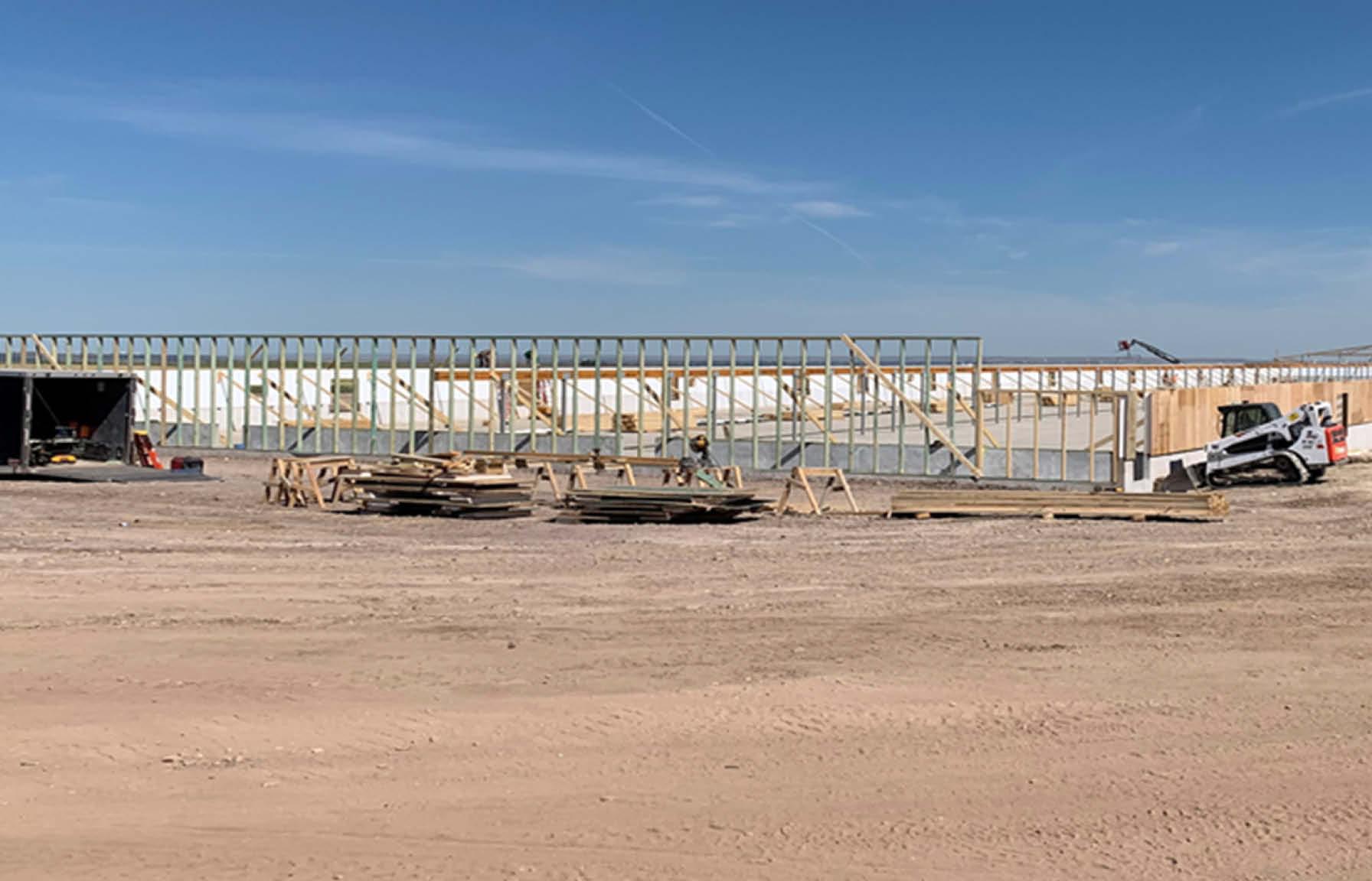 Swine barn construction