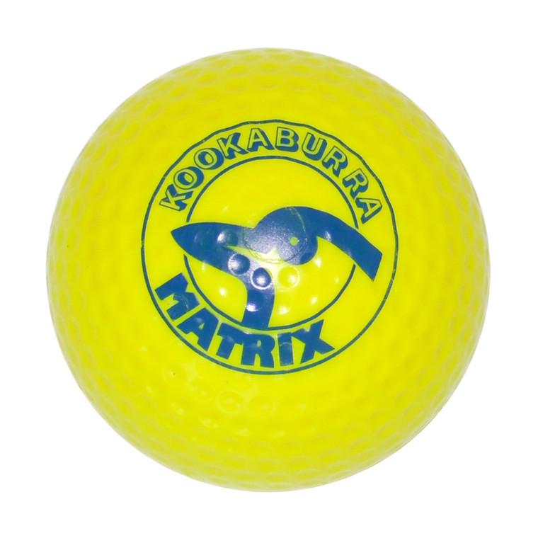 Kookaburra Matrix Dimple Hockey Ball Yellow