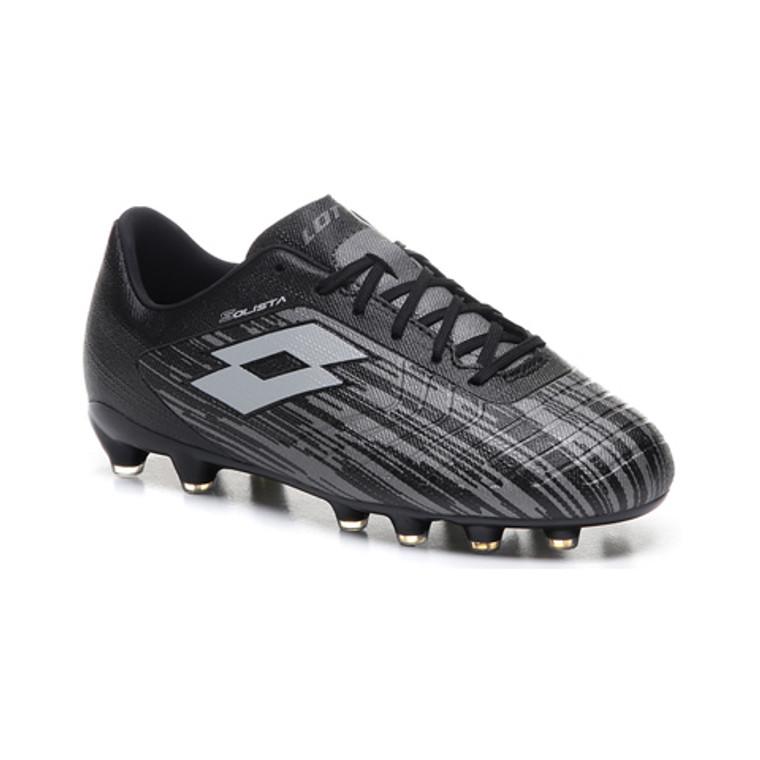 Lotto Mens Solista 700 III Firm Ground Boots Black/Grey