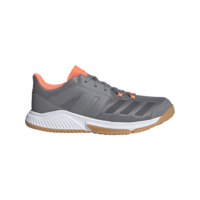 Adidas Mens Essence Indoor Shoes Grey/Coral/White